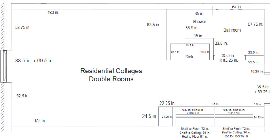 Residential College Double Room